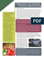 Urban Agriculture Ordinance