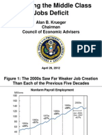 Alan Kreuger - Reversing the Middle Class Jobs Deficit (Slides)