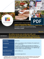 2012 IFIC Food and Health Survey Report of Findings (for Website)