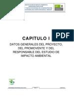 Datos Generales de Proyecyo de Estudio de Impacto Ambiental