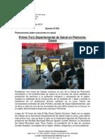 Boletín 055_ Primer Foro Departamental de Salud en Piamonte-Cauca