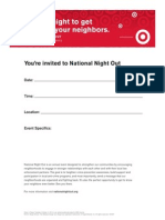 National Night Out Invitation Template