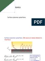 Nanophotonics Class 2 - Surface Plasmon Polaritons