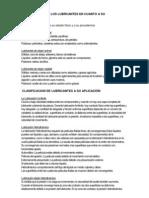 CLASIFICACIÓN DE LOS LUBRCANTES