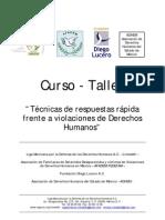 Técnicas de respuestas rápidas frente a violaciòn de derechos humanos