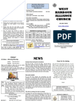 Church Newsletter - 22 July 2012
