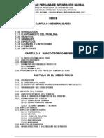 Modelo de Indice de Trabajo Final de Planeamiento Urbano