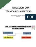 TECNICAS CUALITATIVAS DE INVESTIGACIÓN DE MERCADOS