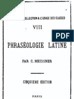 Meissner - Phraséologie latine