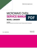 LG LMA840W Service Manual