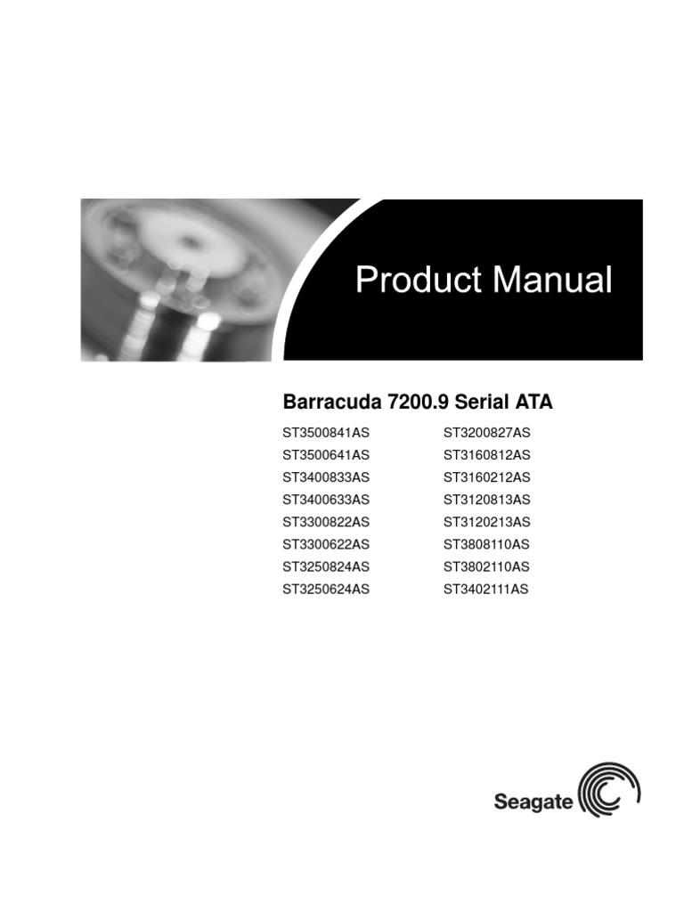 seagate barracuda 7200 9 sata product manual manufactured goods rh scribd com seagate barracuda st2000dm006 manual seagate barracuda 7200.12 service manual