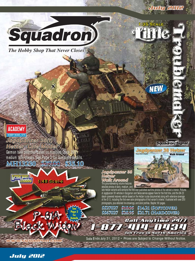 2012 Squadron Full July Aircraft CatalogAeronautics sQtdrh