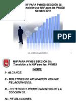 Presentación Sección 35 NIIF para Pymes