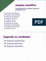 APRESENTAÇÃO2 - TIPOS DE PESQUISA