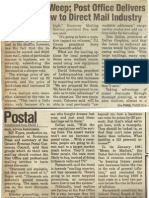 1991 article on postage rate increase