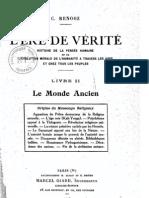 Céline Renooz -  L'Ere de Vérité 2 - Le Monde Ancien