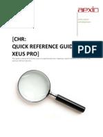 64307860 Xeus CHR Analysis Quick Guide