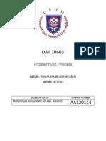 Assignment 2 Dat10603