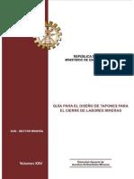 Diseño de Tapones Mineros - Perú