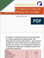DISEÑO DE PLANTILLA CON UN SOLO BARRENO EN