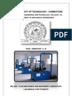 Fluid Mechanics Ans Machinery - Lab Manual