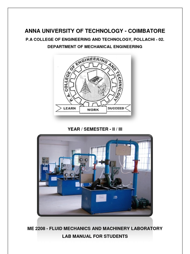 fluid mechanics lab report Fluid mechanics lab the fluid mechanics laboratory in the mechanical engineering department (1c45) has an essential and effective role enabling mechanical engineering students to gain educational understanding and experimental information in the fiel.