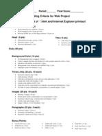 Grading Criteria for Web Project 2009