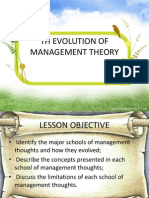 Th Evolution of Management Theory