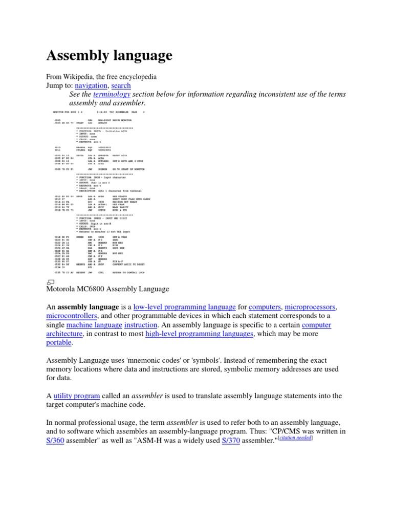 Assembly language. Assembler Commands and Fundamentals 66
