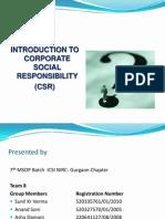 CSR IV Presentation Finl