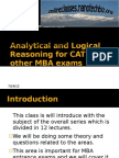 Analytical and Logical Reasoning