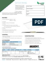 Maxlite LED Flat Panel Datasheet MLFP24D6035 6050