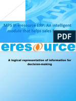 MPS in Eresource ERP an Intelligent Module That Helps Sales Forecast