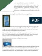Building a Solar Panels