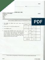 Percubaan Upsr 2012 - Pahang - Bahasa Inggeris Kertas 2