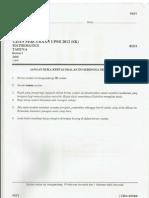 Percubaan Upsr 2012 - Pahang - Matematik Kertas 1