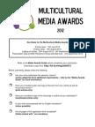 Multicultural Media Awards 2012 Application Form