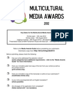 Multicultural Media Awards 2012 Application Form
