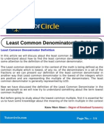 Least Common Denominator Definition