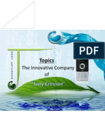 Sony Ericsson Presentation