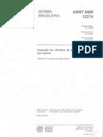 ABNT NBR 12274 Insp Cil Aço para Gases