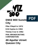 DWIZ 800 Sunshine City