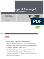 What's a Good Package