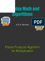 Every Day Maths and Algorithm