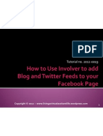 How to Use Involver to connect your Blog and Twitter to Facebook