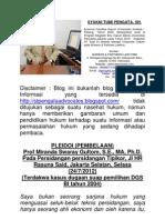 PLEIDOI (PEMBELAAN) Prof Miranda Swaray Gultom, S.E., MA, Ph.D. Pada Persidangan persidangan Tipikor, Jl HR Rasuna Said, Jakarta Selatan, Selasa (24/7/2012) (Terdakwa kasus dugaan suap pemilihan DGS BI tahun 2004)