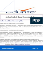 Andhra Pradesh Board Economics Syllabus