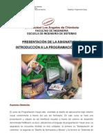 Tema 1 Presentacion e Introduccion Programacion Visual
