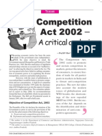 Competition Law Critical Analysis