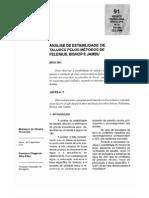 ANÁLISE DE ESTABILIDADE DE TALUDES - MÉTODOS DE FELENIUS, BISHOP E JAMBU